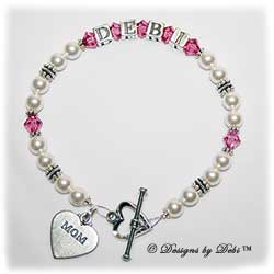 Designs by Debi Handmade Jewelry Personalized Keepsake Bracelet kiara style