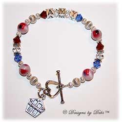 Designs by Debi Handmade Jewelry Remember 9/11 Memorial Bracelet™ Persoanlized Style