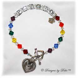 Designs by Debi Handmade Jewelry Rainbow Bridge Pet Memorial Bracelet™ Style #1 Psycho