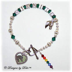 Designs by Debi Handmade Jewelry Rainbow Bridge Pet Memorial Bracelet™ Style #2 for Horses