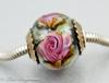 Pink Rose Charm Bead