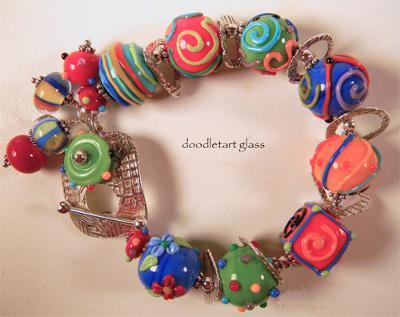 Flinstone Bead Bracelet